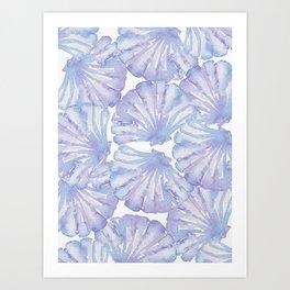 Shell Ya Later - Purple Seashell Pattern Art Print