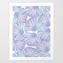 Shell Ya Later - Purple Seashell Pattern Art Print