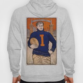 Vintage poster - Illinois Football Hoody