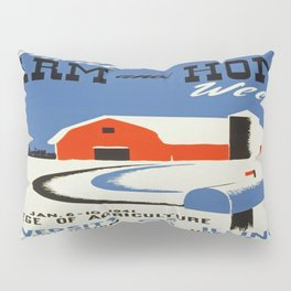 Vintage poster - Annual Farm and Home Week Pillow Sham