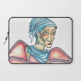 Blue Hat Woman Laptop Sleeve
