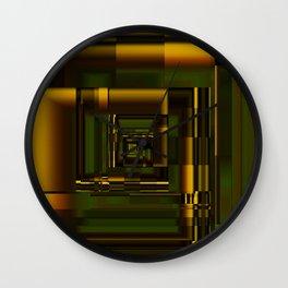 Corridors of Gold Wall Clock