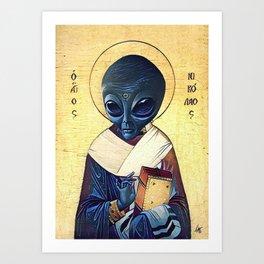 St. Alien Art Print