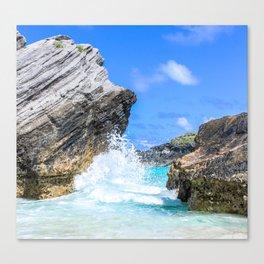 Waves Crashing, Bermuda Canvas Print