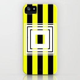 Bumblebee Box - Geometric, bold, yellow and black striped design iPhone Case