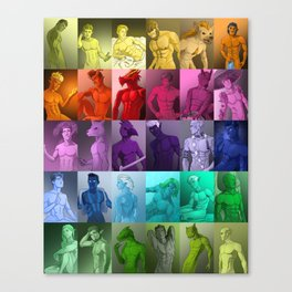 Colorful Fantasy Men Canvas Print