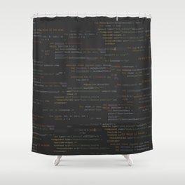 codeV1.0 Shower Curtain