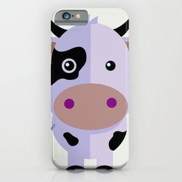 Purple cow by Leslie harlo iPhone Case