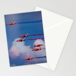 Red Arrows In The Sky Stationery Cards