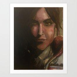 Lara Croft oil painting Art Print