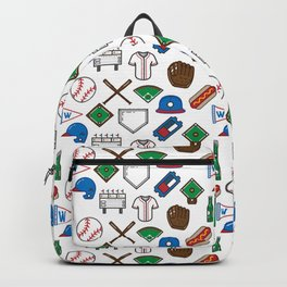 Baseball Icons Print Backpack