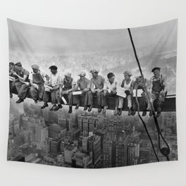 Lunch atop a Skyscraper Wall Tapestry