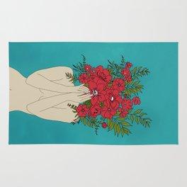 Blooming Red Rug
