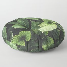 Peek-a-boo Leaves | Spring Photography Floor Pillow
