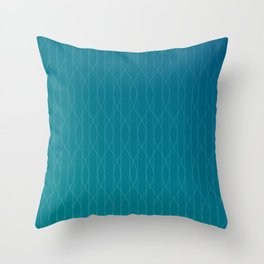 Wave pattern in teal Throw Pillow