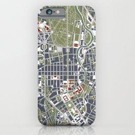 Berlin city map engraving iPhone Case