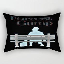 Forrest On The Bench Rectangular Pillow