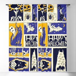 Hand drawn halloween comic book style Blackout Curtain