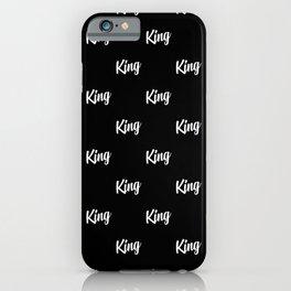 king written pattern iPhone Case