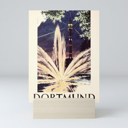 Retro Placard Dortmund Westfalenpark Karl Schiller Mini Art Print
