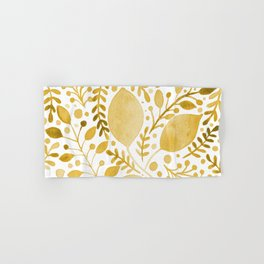 Branches and leaves - yellow Hand & Bath Towel