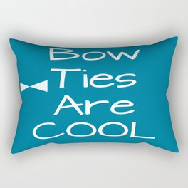 DOCTOR WHO Bow Ties Are Cool Teal Rectangular Pillow