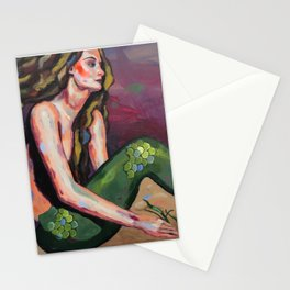 The Mermaid and the Seahorse Stationery Cards