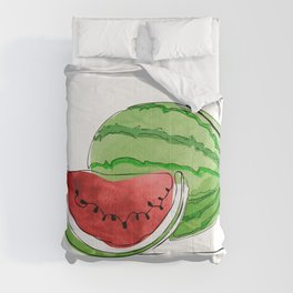 Watermelon One Line Color Comforters