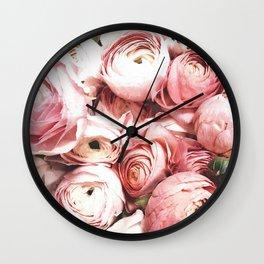 Blush Blooming Wall Clock