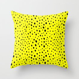 Yellow Cheetah Pattern Throw Pillow