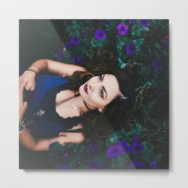dreaming amongst the flowers Metal Print
