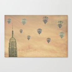 Balloons over the Empire Canvas Print