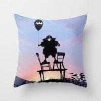 bane Throw Pillows featuring Bane Kid by Andy Fairhurst Art