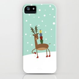 Christmas gifts from the reindeer #society6 #homedecor iPhone Case