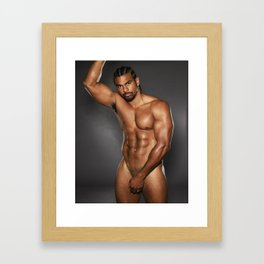 Black boy Framed Art Print