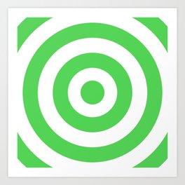 Target (Green & White Pattern) Art Print