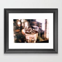 Golden shimmer - Bar Framed Art Print