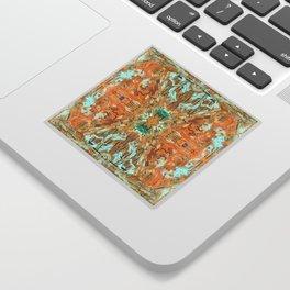 Humming Bird Orange Sticker