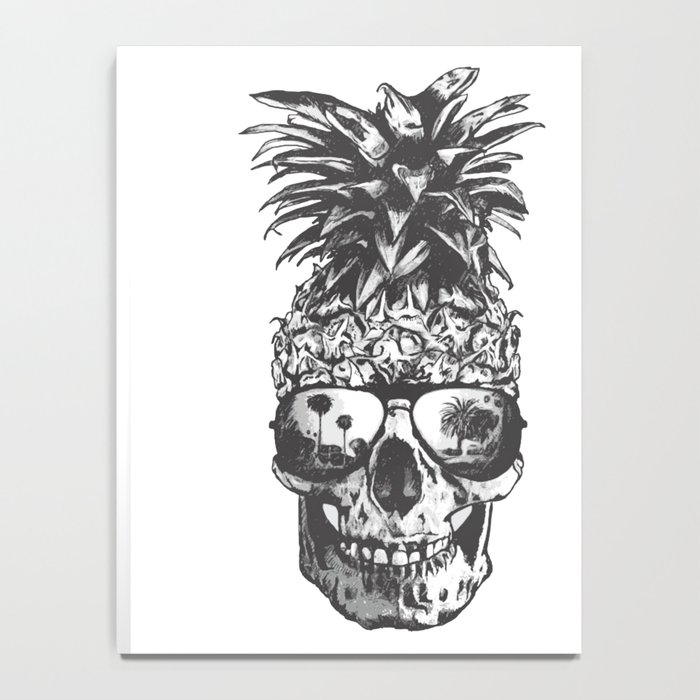 Pineapple Skull Head Notebook