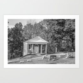 Black and White Photography Night Of The Loving Dead Chapel Art Print