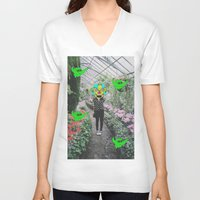 botanical V-neck T-shirts featuring botanical  by Mike McDonnell