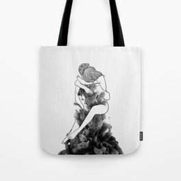 I find peace in your hug. Tote Bag