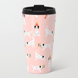 Spotted Dogs Pink Travel Mug