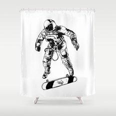 Astro-Skater Shower Curtain