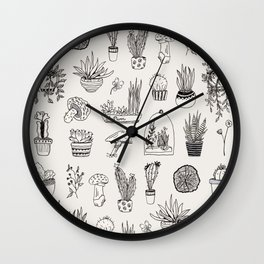 Plant Lines Wall Clock