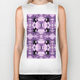 Shiny Purple Flower Design, Pattern Biker Tank