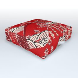 Red Mountains Outdoor Floor Cushion
