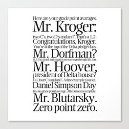 quoting Hollywood 2 Canvas Print