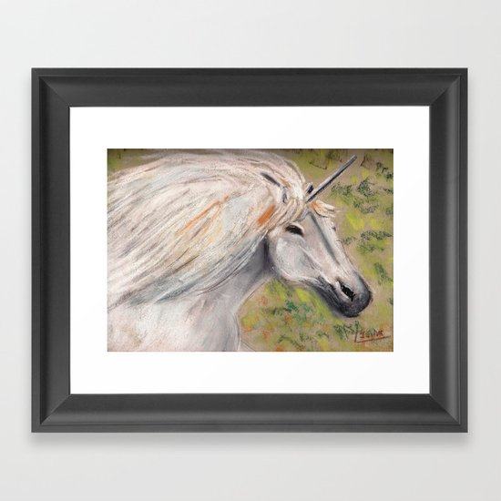 unicorn ing Framed Art Print