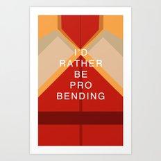 Mako Would Rather Be Probending Art Print